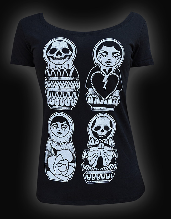 Womens Russian Dolls Scoop Neck Tee