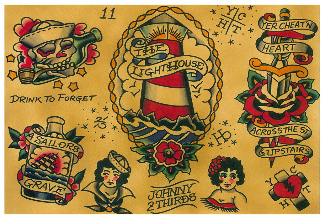 Flash Art Print Black Market Art Company Tattoo Art Apparel